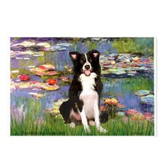 Lilies & Border Collie Postcards (Package of 8)