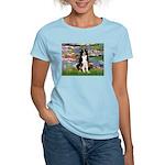 Lilies & Border Collie Women's Light T-Shirt