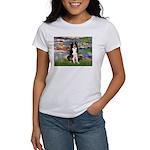 Lilies & Border Collie Women's T-Shirt