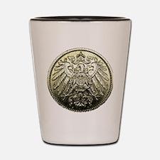 1911 A Germany 1 Mark 90% SILVER GORGEO Shot Glass