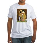 The Kiss & Border Collie Fitted T-Shirt