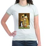 The Kiss & Border Collie Jr. Ringer T-Shirt