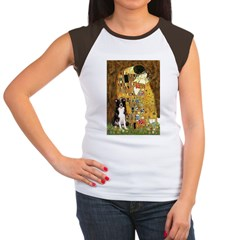 The Kiss & Border Collie Women's Cap Sleeve T-Shir