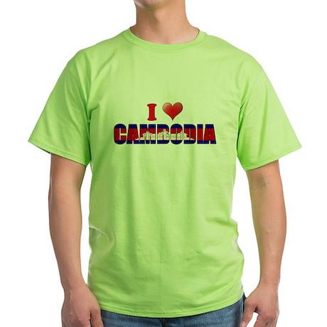 I love Cambodia Green T-Shirt