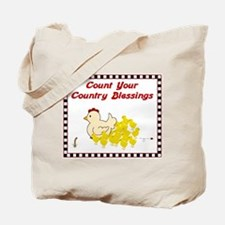 Country Blessings-Hen- Tote Bag