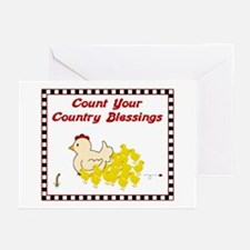 Country Blessings-Hen- Greeting Cards (Package of