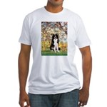 Spring & Border Collie Fitted T-Shirt