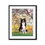 Spring & Border Collie Framed Panel Print