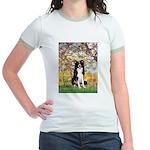 Spring & Border Collie Jr. Ringer T-Shirt
