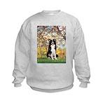 Spring & Border Collie Kids Sweatshirt