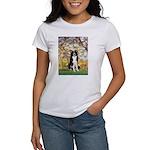 Spring & Border Collie Women's T-Shirt