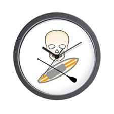 Skull Paddleboard Wall Clock