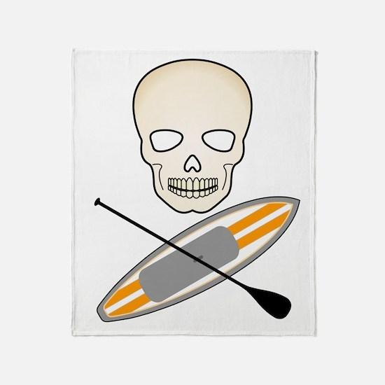 Skull Paddleboard Throw Blanket