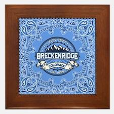 Breckenridge Blue Framed Tile