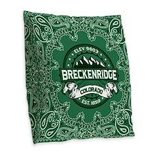 Breckenridge Forest Burlap Throw Pillow