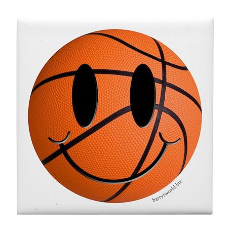 Basketball Smiley Tile Coaster