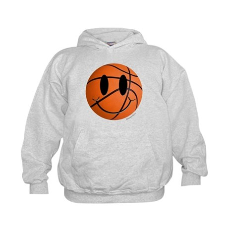 Basketball Smiley Kids Hoodie