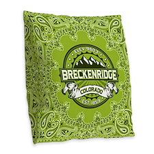 Breckenridge Green Burlap Throw Pillow