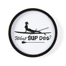 What SUP Dog-b Wall Clock