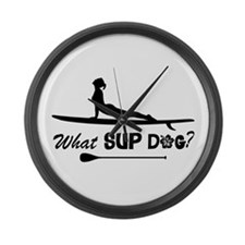 What SUP Dog-b Large Wall Clock