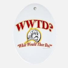 WWTD? Oval Ornament