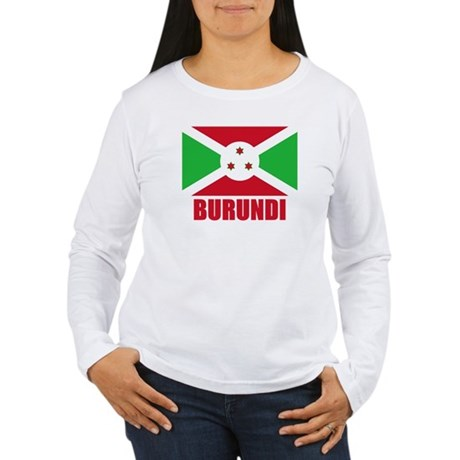 Burundi Flag Women's Long Sleeve T-Shirt