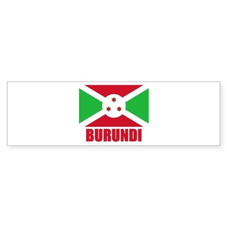 Burundi Flag Bumper Sticker