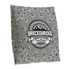Breckenridge Grey Burlap Throw Pillow