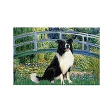 Bridge & Border Collie Rectangle Magnet