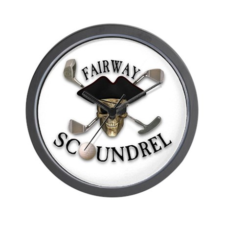 Golf Pirate Wall Clock