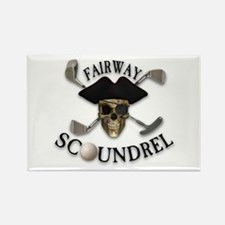 Golf Pirate Rectangle Magnet