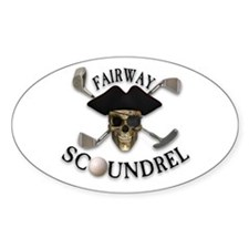 Golf Pirate Oval Decal
