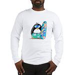 Surfing Penguin Long Sleeve T-Shirt