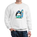 Surfing Penguin Sweatshirt