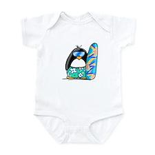 Surfing Penguin Infant Bodysuit