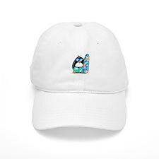 Surfing Penguin Baseball Cap