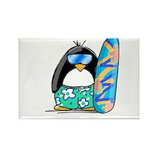 Surfing Penguin Rectangle Magnet