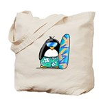 Surfing Penguin Tote Bag