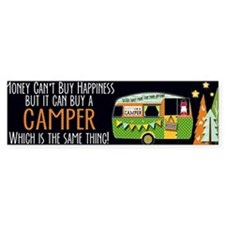 Camper Happiness Bumper Bumper Sticker