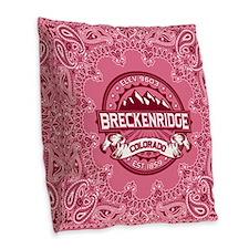 Breckenridge Honeysuckle Burlap Throw Pillow