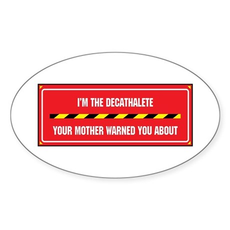 I'm the Decathalete Oval Sticker