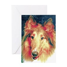 Painted sable collie Greeting Cards