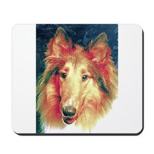 Painted sable collie Mousepad