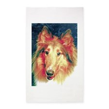 Painted sable collie 3'x5' Area Rug