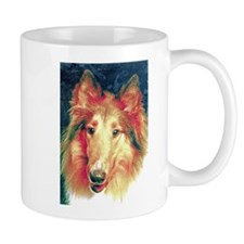 Painted sable collie Mugs