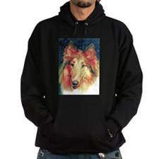 Painted sable collie Hoodie