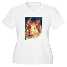 Painted sable collie Plus Size T-Shirt