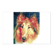 Painted sable collie Postcards (Package of 8)