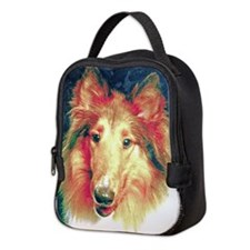 Painted sable collie Neoprene Lunch Bag