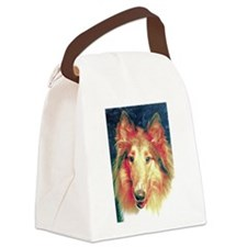 Painted sable collie Canvas Lunch Bag